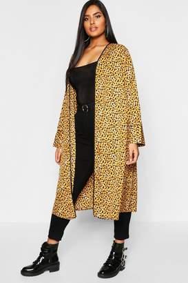 boohoo Plus Leopard Kimono