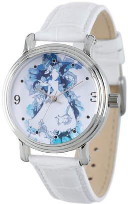 DISNEY PRINCESS Disney Princess Disney Princess Womens White Strap Watch-Wds000179
