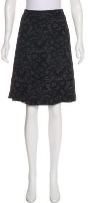 Agnona Printed Silk Skirt