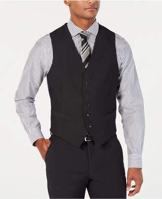 d2b8282219 Perry Ellis Men Portfolio Slim-Fit Stretch Black Solid Suit Vest