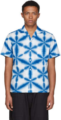 Blue Blue Japan Blue and White Snowflake Tie-Dye Shirt