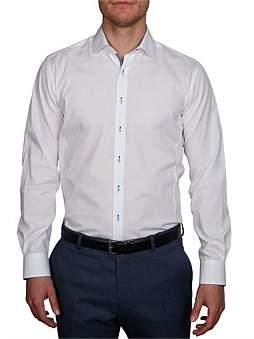 Geoffrey Beene Baracoa Stretch Spot Body Fit Shirt
