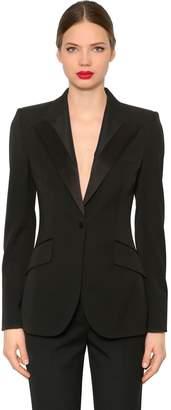 Dolce & Gabbana Stretch Cool Wool & Silk Tuxedo Blazer