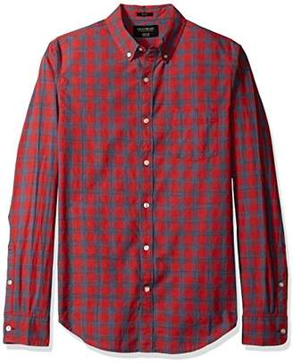 Lucky Brand Men's Washed Multi Woven Shirt