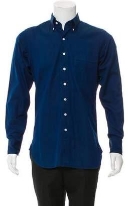 Drakes Drake's Point Collar Button-Up Shirt