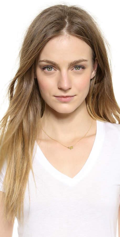 Jennifer Zeuner Jewelry Mini Elephant Necklace with Diamond