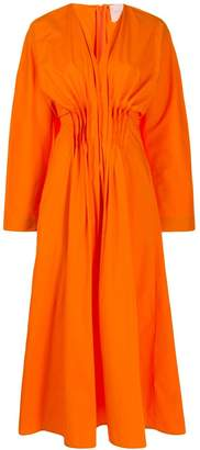 Roksanda pleated V dress