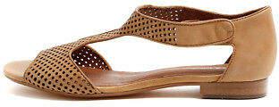 Django & Juliette New Paiges Tan Womens Shoes Casual Sandals Sandals Flat
