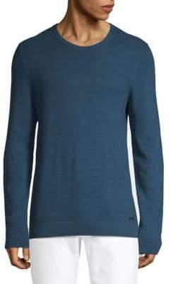 HUGO BOSS Textured Cotton Sweatshirt
