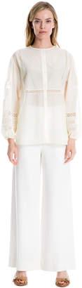 Max Studio cotton silk voile top