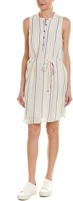 Splendid Tie-Waist Linen-Blend Shift Dress