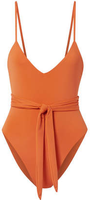 Mara Hoffman Gamela Belted Swimsuit - Orange