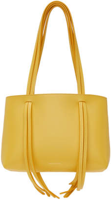 Mansur Gavriel Yellow Mini Fringe Tote