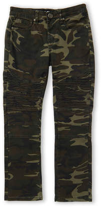 X-Ray X Ray (Boys 8-20) Olive Camouflage Moto Jeans