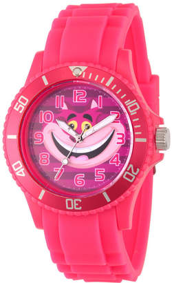 Disney Alice in Wonderland Womens Pink Strap Watch-Wds000362
