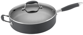 "Anolon 12"" Advanced Hard Anodize Non-Stick Saute Pan with Helper Handle"