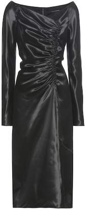 Marc Jacobs Ruched satin dress