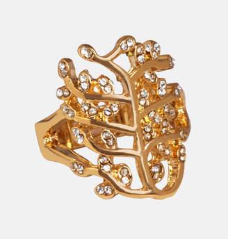 Avenue Gold and Diamond Filigree Stretch Ring