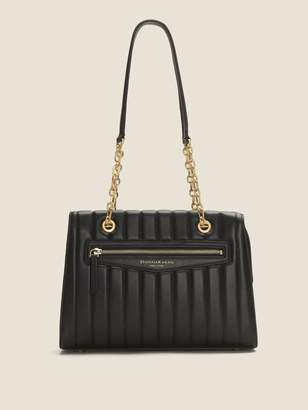 DKNY Erin Pinstripe Quilted Leather Tote