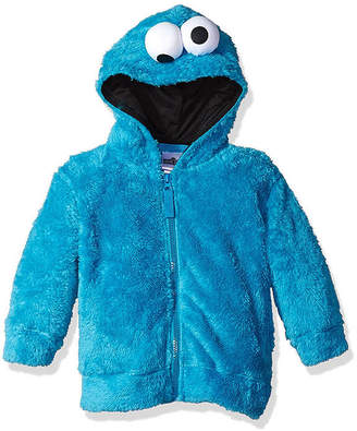 Asstd National Brand Sesame Street Toddler Girls Cookie Monster Costume Hoodie with Faux Fur and 3D Face