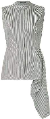 Alexander McQueen sleeveless peplum striped shirt