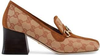 Gucci Zumi GG canvas mid-heel loafer