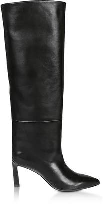 Stuart Weitzman Emiline Hig Heel Black Leather Boots