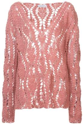 Roche Ryan crocheted design jumper