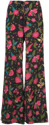 Figue floral print flared trousers