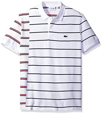 Lacoste Men's Made in France Irregular Stripe 3 Ply Pique Polo
