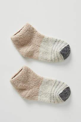 Lemon Terry Block Striped Slipper Socks