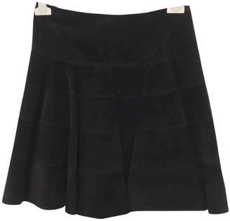 Alaia Black Suede Skirts