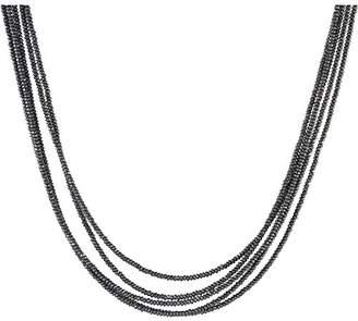 Bronzallure WSBZ00191 Women's Bronze Alloy Necklace Hematite Grey WSBZ0049