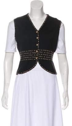 Fendi Logo Knit Vest