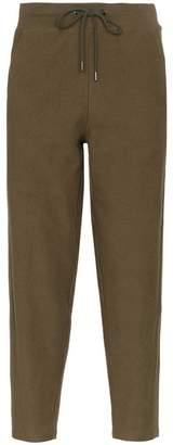 Lot 78 Lot78 side stripe cropped cotton-blend track pants