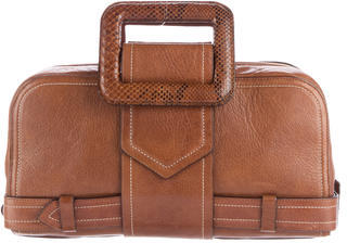 Jean Paul Gaultier Snakeskin-Trimmed Handle Bag $220 thestylecure.com