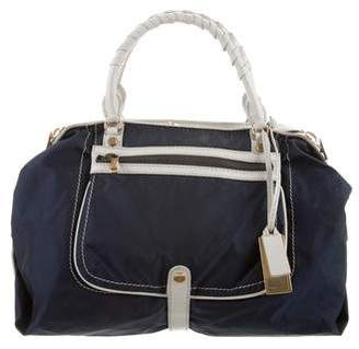 Gryson Leather-Trimmed Nylon Bag