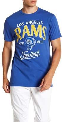 Junk Food Clothing Los Angeles Rams Kick Off Crew Tee
