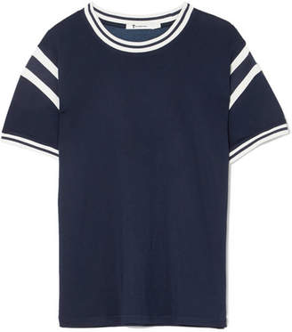 Alexander Wang Striped Stretch-jersey T-shirt - Navy