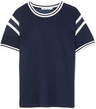 Alexander Wang Striped Stretch-jersey T-shirt - Navy