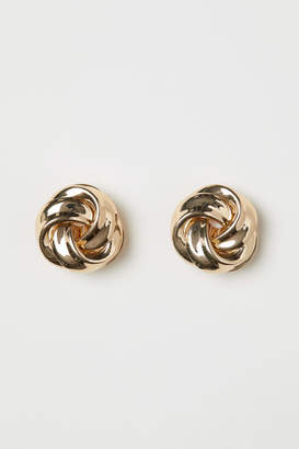 H&M Round Clip Earrings - Gold