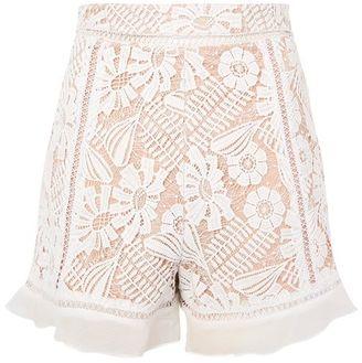 Topshop Lace frill shorts