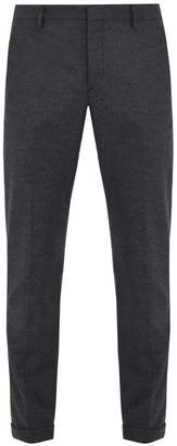 Prada Mid-rise slim-leg brushed-wool tailored trousers