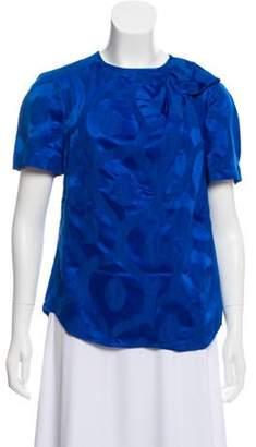 Isabel Marant Short Sleeve Patterned Top Short Sleeve Patterned Top