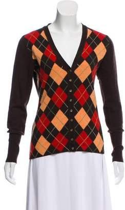 Autumn Cashmere Argyle Cashmere Cardigan