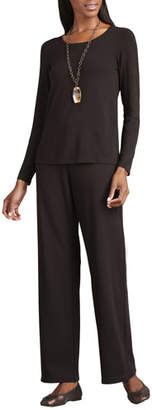 Eileen Fisher Straight-Leg Ponte Pants, Petite