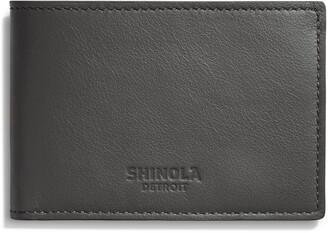Shinola Super Slim Leather Wallet