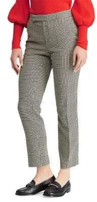 Lauren Ralph Lauren Glen Plaid Mid-Rise Skinny Pants