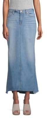 7 For All Mankind Denim Maxi Skirt