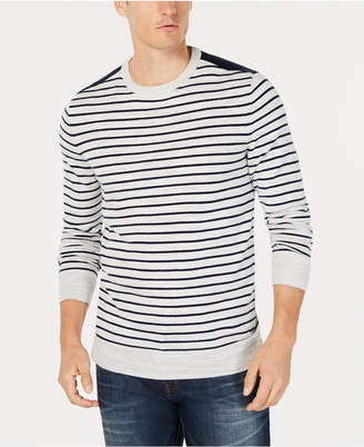 Club Room Men's Low Tide Striped Sweater, Created for Macy's